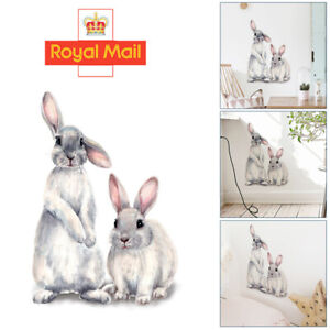 Removable Two Rabbit Wall Sticker Baby Nursery Room Home Window Decoration DIY Q