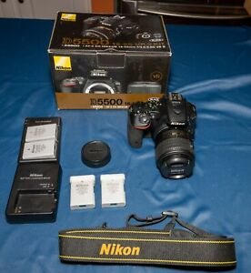 Nikon D5500 24.2MP Digital SLR Camera - Black w/ VR II 18-55mm Lens