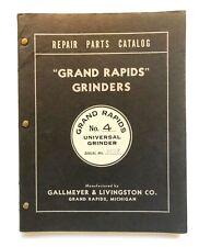 Vintage Original 1945 Grand Rapids Universal Grinders Repair Parts Catalog