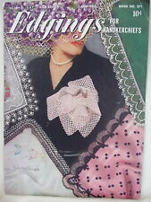 Handkerchief Edgings; plus Edgings, 9 Vintage Crochet Booklets, 40s and 50s