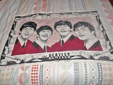 THE BEATLES ORIGINAL 1963 TEA TOWEL ULSTER LINEN DISH TOWEL  AWESOME CONDITION