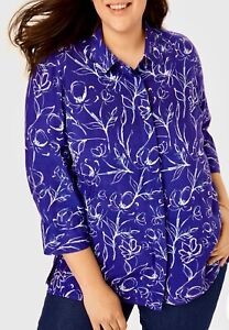 Woman Within A line Blouse Top Plus Size 18/20 22/24 26/28 30/32 34/36 38/40 496