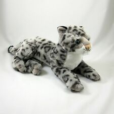 Wild Republic Laying Snow Leopard with Tush Tag Plush Stuffed Toy Animal 12 Inch