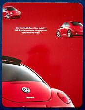 Prospekt brochure 2001 Volkswagen VW New Beetle Sport (USA)