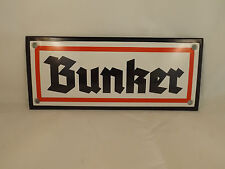 "german Wehrmacht enamel sign ""BUNKER""  shield  Heer Luftwaffe army Elite"