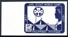 Philippines 637a imperf, MNH. Girl Scout World Jamboree, Quezon City, 1957