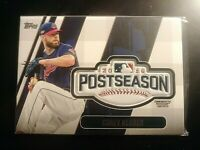2018 Topps Update Postseason Logo Patch, #PSL-CL Corey Cluber Indians.