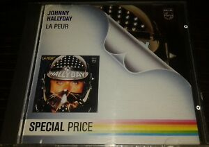 JOHNNY HALLYDAY RARE CD LA PEUR SPECIAL PRICE MADE IN WEST GERMANY
