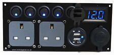 Ford Transit Switch Panel 2.1A USB 12V 2 x 240V Utility Unit Light Switches