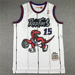 New Toronto Raptors Vince Carter 15 White Throwback Swingman Jersey Size S-XXL