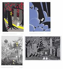 Moomin Set of 4 Posters Forest Theme 24 x 30 cm