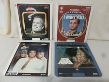 Vintage Lot of 4 Video Disc Movies Shampoo Stripes Star Wars Whose Life