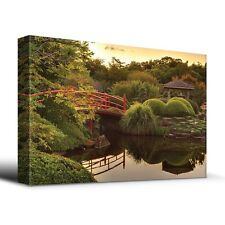 Wall26 - Zen Japanese footbridge - Canvas Art Home Decor - 24x36 inches