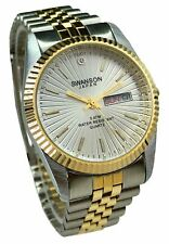 Watch Men's Silver White Dial With Stone Day-Date New Water Swanson Japan