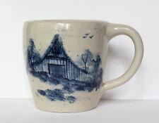 Vintage Paul Storie Marshall Texas Cobalt Blue Country Farm Barn Pottery Mug