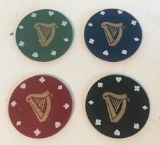 GUINNESS POKER CHIPS / GOLF BALL MARKERS X 4 -  GUINESS PUB BAR CAKE DECORATIONS