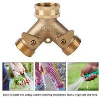 """3/4"""" 2-Wege Wasserverteiler Y-Verteiler-Stück aus Messing Garten Bewässerung ♥"""