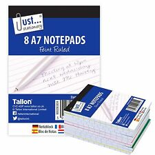 A7 Note Books 8 Notepads  Lined Pad Pads White Covers Works Office School 4691