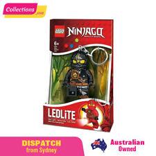 The LEGO Ninjago Cole Black Ninja Minifigure LED Lite Key Light Toy Keychain