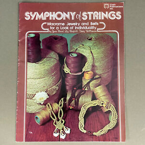 Symphony of Strings vintage macrame jewelry & belt pattern book color photos
