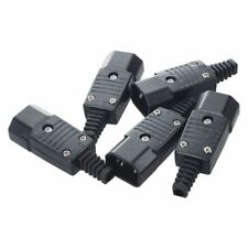 5Pcs AC250V 10A Male 3 Terminals Panel Mount IEC320 C14 Power Socket Adapte F4Z4
