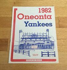 1982 Oneonta Yankees New York Yankees Vintage NYPL MiLB Program John Elway Rare