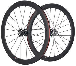 38/50/60/88mm Track Bike Carbon Wheels Single Speed Fixed Gear Bike Wheelset