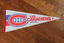 Vintage MONTREAL CANADIENS Full-Size Felt PENNANT by Trench Made in Canada