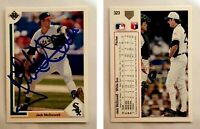 Jack McDowell Signed 1991 Upper Deck #323 Card Chicago White Sox Auto Autograph
