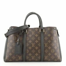 Louis Vuitton bolso de lona Monogram con Cuero Soufflot mm
