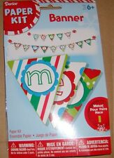 Merry Christmas Banner Kit Ornaments B139