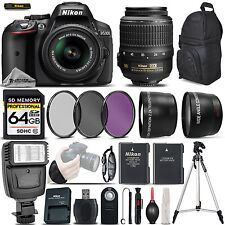 Nikon D5300 DSLR Camera 24.2MP + Nikon 18-55mm VR - Ultimate Saving Bundle