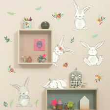 2018 DIY Lovely Style Rabbit Wall Sticker Decal For Nursery Kids Baby Girl Room