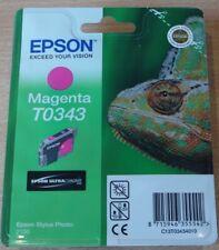 GENUINE EPSON T0343 TO343 Magenta (red) cartridge ORIGINAL R2100 CHAMELEON ink