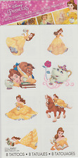 8 Beauty and the Beast Belle Temporary Tattoos (1 Sheet, 8 Perforations)