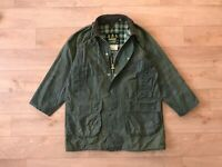 Barbour Men's Vintage A123 Gamefair Green Waxed Coat Jacket C42/107CM Casual