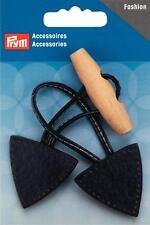 Prym Knebelverschluß dark blue 15x5cm Leatherette Knob Lock 417715