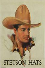 Stetson Hat Cowboy Vintage Rodeo Print Poster