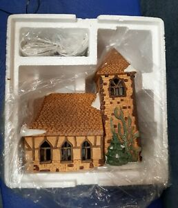 "Dept. 56 Dickens' Village ""Village Church"" Rare 6516-1 retired 1988 🎅NIB"