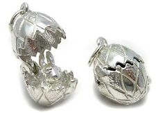 Welded Bliss Solid British Sterling 925 Silver Egg Opens to Bunny Rabbit Charm