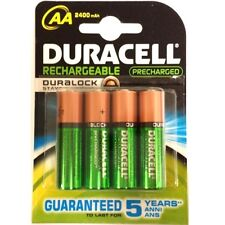 8 x AA DURACELL Rechargeable 2400 mAh NI-MH Batteries 2400mAh HIGH CAPACITY