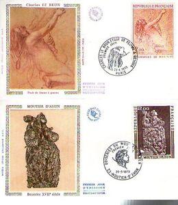 FDC - FRANCE 1741-1742 - MOUTHIER D'AHUN ET CH. LE BRUN