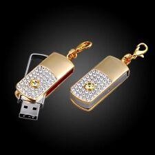 USB Stick 16 GB Schmuck Strass Schlüssel / Taschen Anhänger gold -farbig