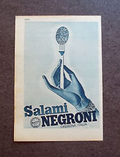 F565 - Advertising Pubblicità - 1952 - SALAMI NEGRONI