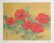 POPPIES Fine Art Lithograph 16 x 20 - Collectible Vintage Art David Lee - Gift