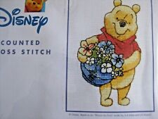 POOH WITH BASKET SAMPLER - CROSS STITCH KIT - NEW