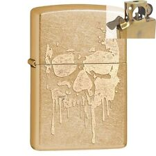 Zippo 29401 Dripping Skull Gold Dust Lighter with PIPE INSERT PL
