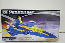 Mega Bloks ProBuilder Blue Thunder # 9743 Airplane 690 pieces Brand NEW