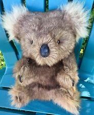 "BIG! 12"" VINTAGE REAL KANGAROO FUR KOALA BEAR GLASS EYES PLUSH STUFFED SOFT TOY"