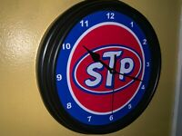 STP Motor Oil Gas Service Station Advertising Man Cave Wall Clock Sign